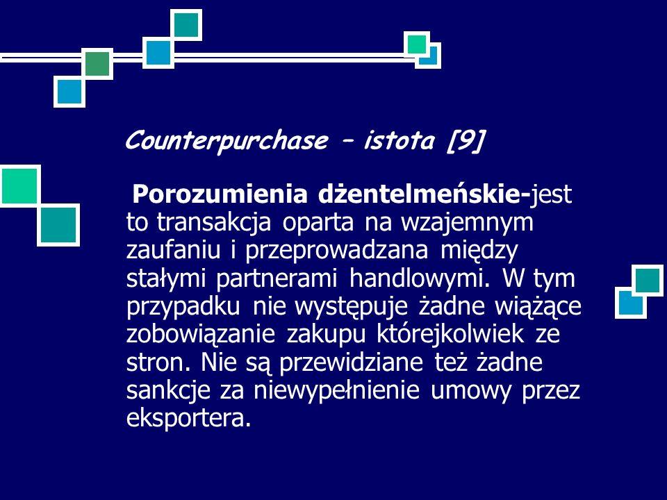 Counterpurchase – istota [9]